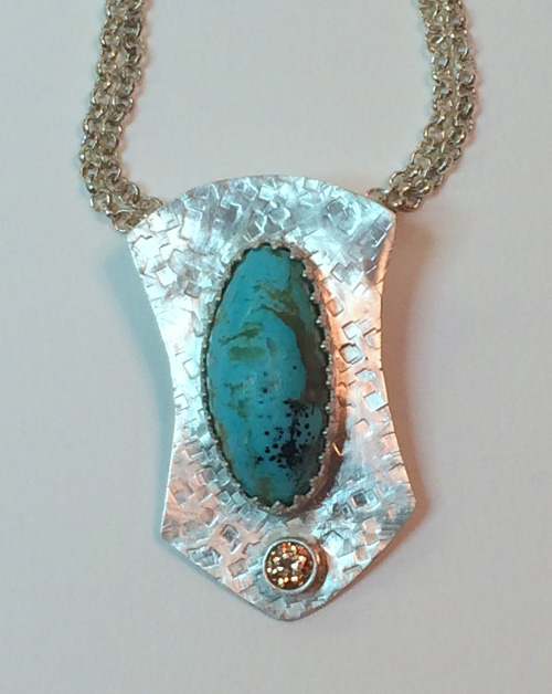 turquoise pendant finished